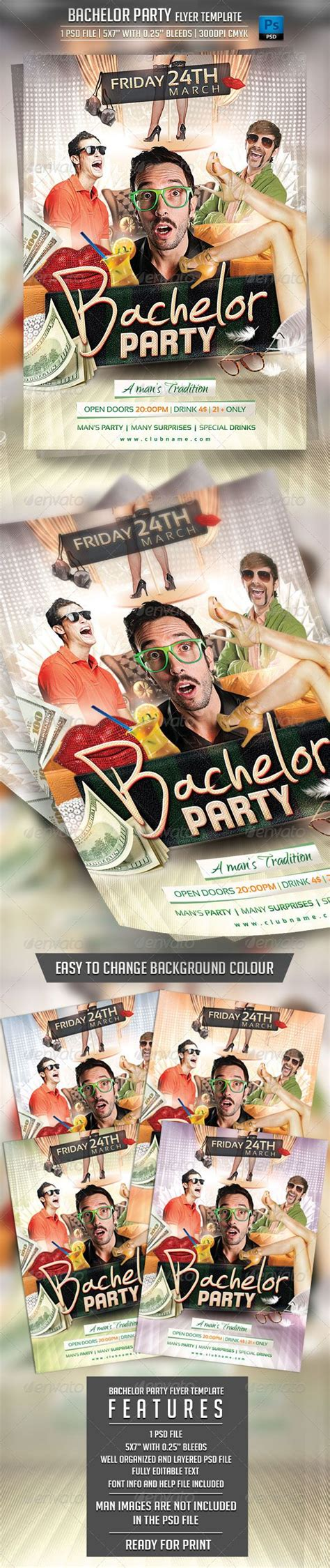 bachelor party flyer template bachelor party party
