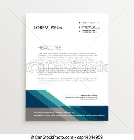 elegant letterhead design template  blue  gray