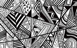 Black Geometric Wallpaper