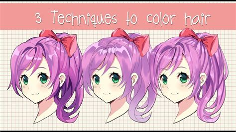 Coloring Hair Anime by 3 Different Ways To Shade Hair Anime Hair Coloring