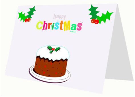 cartoon christmas cake card