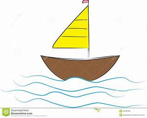 Boat stock vector Image of wave blue drawing