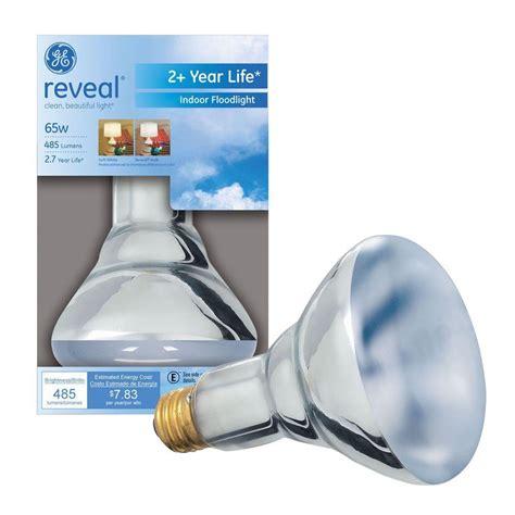 ge reveal 65 watt halogen br30 flood light bulb 65br30 h