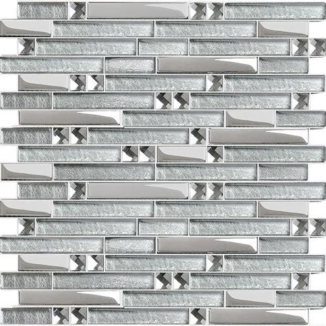 white subway tile bathroom ideas metal glass mosaic bath wall silver stainless steel backsplash