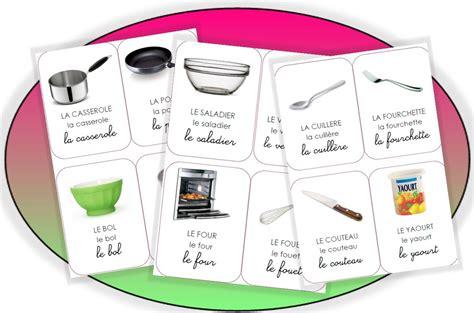 lexique ustensiles de cuisine imagier vocabulaire recette pédagogie langage
