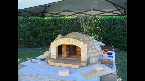 build  wood fired pizza ovenbbq smoker combo
