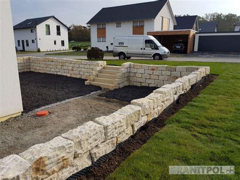 granit blockstufen verlegen blockstufen aus granit granitpflaster ruffing garten und