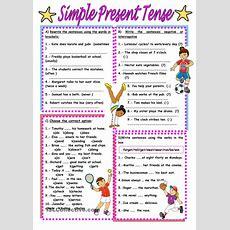 Simple Present Tense Worksheet  Free Esl Printable Worksheets Made By Teachers Inglés