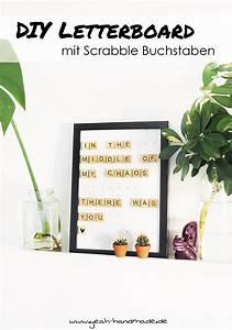 Scrabble Buchstaben Deko : diy letterboard mit scrabble buchstaben diy deko wohnen pinterest diy deko tolle diy ~ Yasmunasinghe.com Haus und Dekorationen