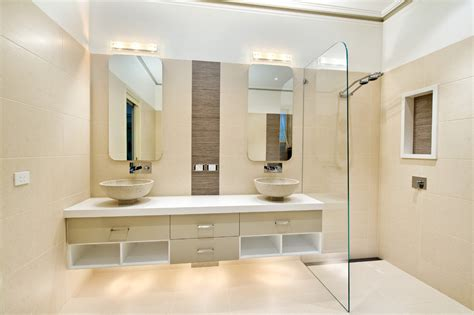 houzz bathroom ideas bathroom contemporary with beige tile shower beige cabinets