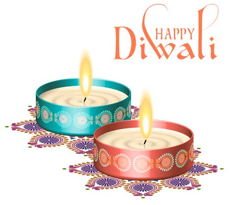 Happy Diwali Nice Candles Png Clipart Image Gallery