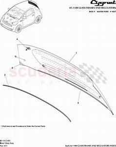 Aston Martin Cygnet Rear Glass Assembly Parts
