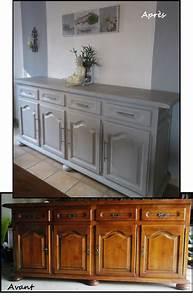 Relooking Meuble Ancien : relooking enfilade relooking meuble pinte ~ Melissatoandfro.com Idées de Décoration