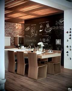 Kitchen, Diner, Chalkboard, Wall