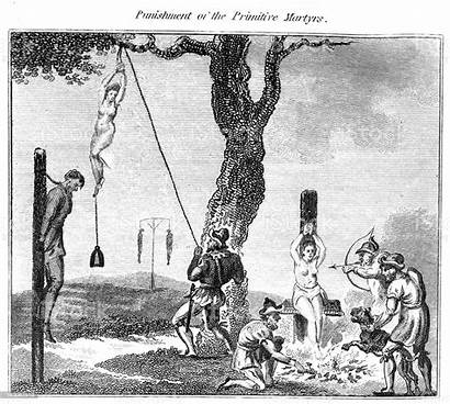 Punishment Torture Martyrs Medieval Bondage Primitive Whipping
