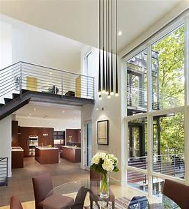Double, Height, Dining, Room, And, View, Through, The, Balustrading