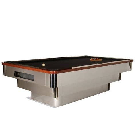contemporary stainless steel table ls contemporary stainless steel blatt billiards pool table
