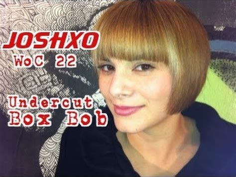 joshxo weapon  choice  short undercut box bob haircut