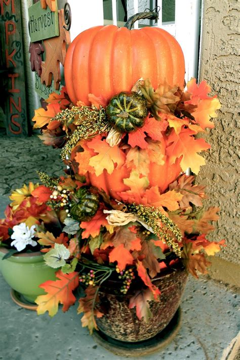 Little Bit Of Paint Thrifty Thursday Diy Pumpkin Topiary