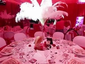 Décoration Mariage Rouge Et Blanc : decoration de salle theme cabaret mariage theme cabaret ~ Melissatoandfro.com Idées de Décoration