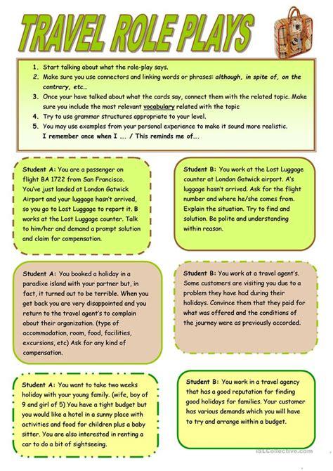 Travel Roleplays Worksheet  Free Esl Printable Worksheets Made By Teachers