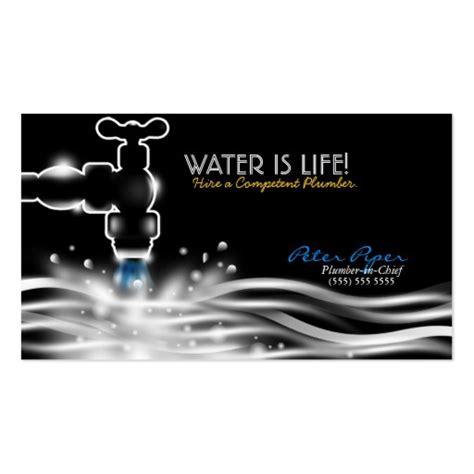 premium plumbing business card templates