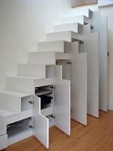 Placard Escalier : 10 astuces rangement sous escalier fut es et pratiques ~ Carolinahurricanesstore.com Idées de Décoration