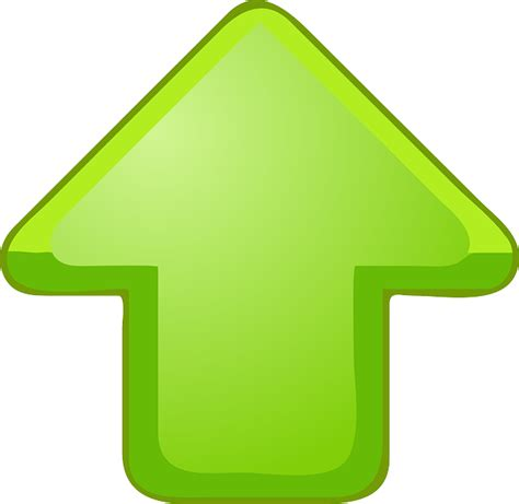 Up Clipart Arrow Upward Green 183 Free Vector Graphic On Pixabay