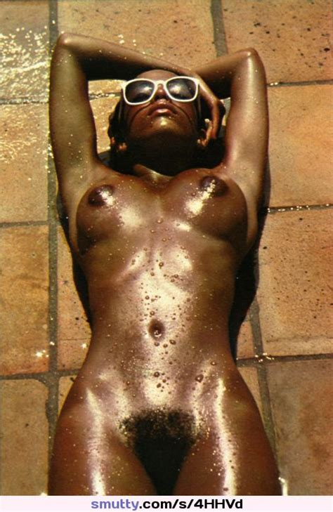 In The Hot Sun Sunbathing Sunglasses Glasses Wet Nude Black Ebonybabe Oiledskin