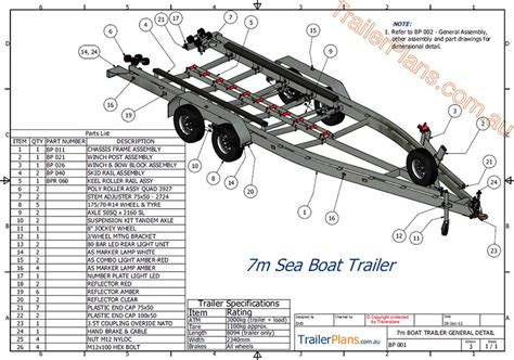 Boat Trailer Plans Australia by Boat Trailer Plans Trailer Plans Designs And Drawings