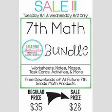 Best 25+ 7th Grade Math Worksheets Ideas On Pinterest  7th Grade Math, 7th Grade Classroom And