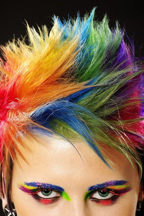 Short Rainbow Hair On Pinterest Hair Stripper Rainbow
