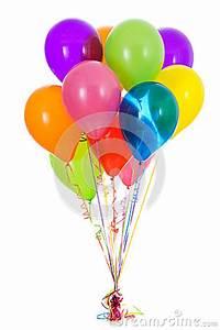 Balloons Dozen Bright Colored Balloon Bouquet Stock