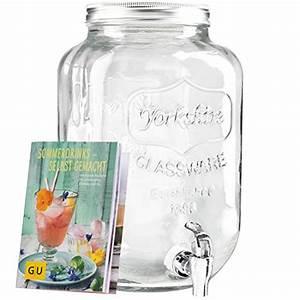 Glasgefäß Mit Zapfhahn : levivo getr nkespender aus glas mit zapfhahn ideal f r die bar im haus exklusives gu booklet ~ Orissabook.com Haus und Dekorationen