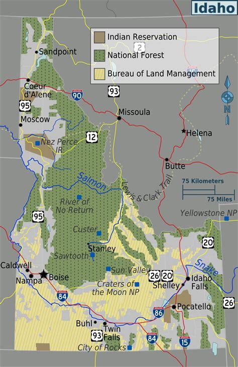 Map of Idaho (Public Land) : Worldofmaps.net - online Maps ...