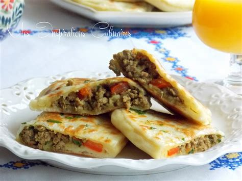 cuisine tunisienne ramadan crêpes turques gözleme a la viande hachée le cuisine de samar