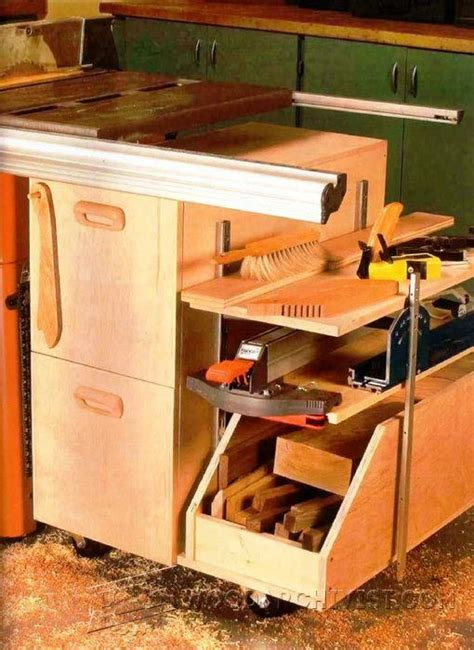 Cabinet Table Saw Used by Table Saw Storage Cabinet Plans Woodarchivist