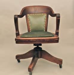 vintage antique wooden swivel bankers or library chair antique desk vintage and chairs