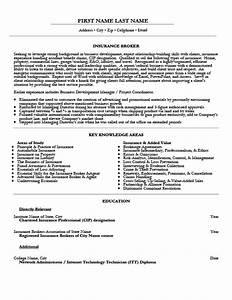 insurance broker resume template premium resume samples With insurance resume
