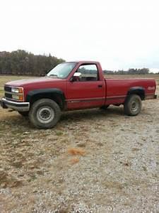 Find Used 1990 Chevrolet K2500 Pickup Excellent 2 Owner 4x4 Chevy Red Long Bed 3  4 Ton Tow In
