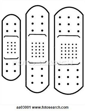 adhesive templates printable band aid template clipart adhesive bandage fotosearch search clip