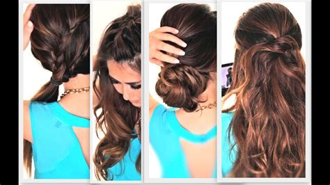 easy lazy hairstyles cute everyday hairstyle youtube