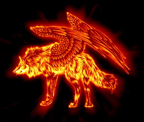 Flaming wolf by Veirdo on DeviantArt