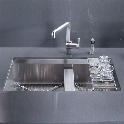 kohler kitchen sink kohler 8 degree stainless steel kitchen sink 3672 na 3598