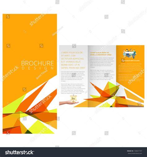 Yellow Brochure Design Vector Millions Vectors Yellow Colorful Brochure Stock Vector Illustration