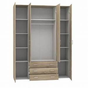 armoire chambre bois design armoire chambre adulte bois With porte de douche coulissante avec miroir salle de bain lumineux conforama