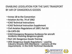 PPT - TRANSPORTATION OF DANGEROUS GOODS BY AIR LEARNING ...