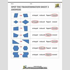 Transformation Geometry Worksheets 2nd Grade