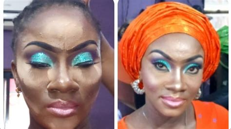 gele  makeup  dark skin model classic glitters eye