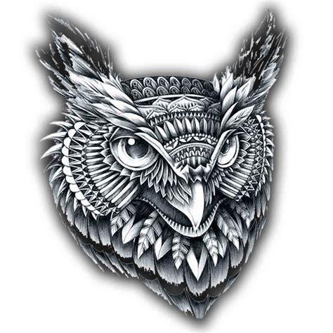 tatoo temporaire mandala hibou